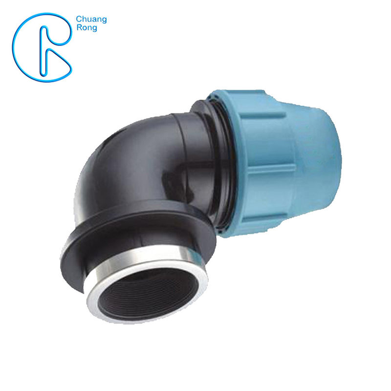 Irrigation PP Compression Fitting Plastic Assembly Connector Female Bend
