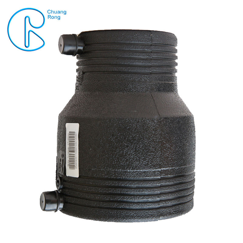 Black PN16 SDR11 PE100 HDPE Electrofusion Reducer For Sewage Treatment